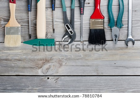 Set building tools on old boards
