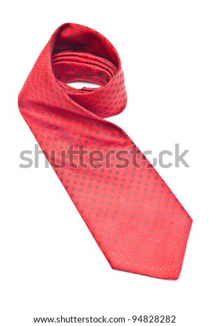 Set business ties, isolated white background