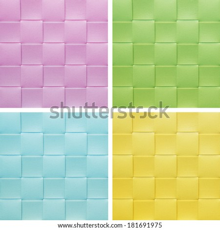 set collection colorful Placemat, texture - stock photo