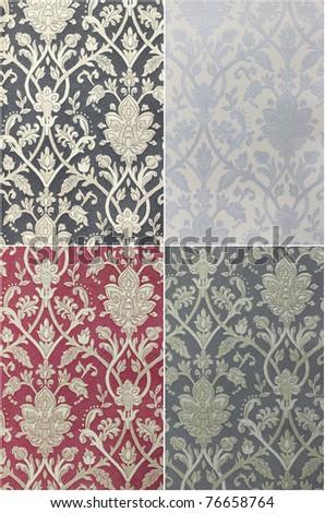 Set Fabric texture,Vintage Design - stock photo