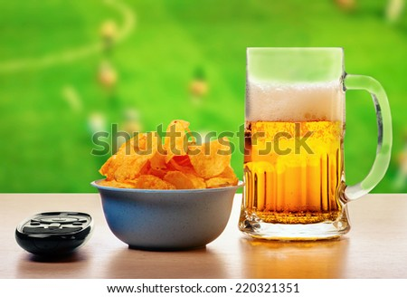 Set for football fans - stock photo