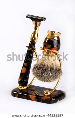 Set for shaving, as necessary things for men - stock photo