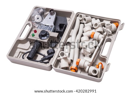 set for soldering polypropylene pipes and fittings