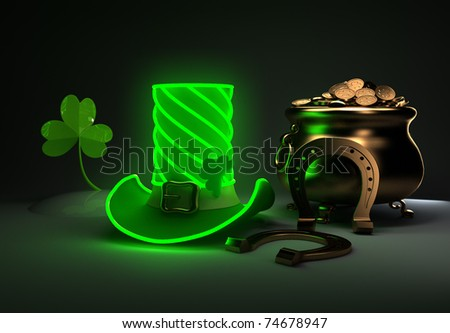 Set for the St. Patrick's Day. - stock photo