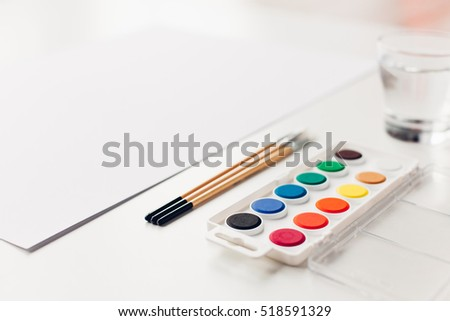 Set for watercolor painting