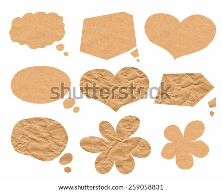 set from paper bubbles - stock photo