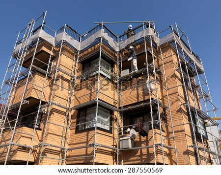 Set in renovations housing - stock photo