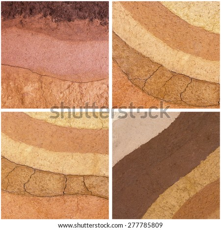 Set layer of soil underground for background - stock photo