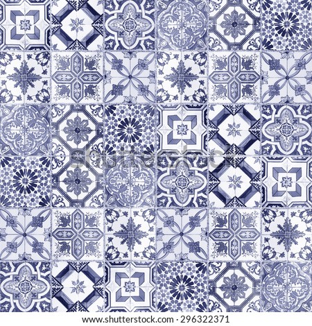Set marble-stone mosaic texture - stock photo