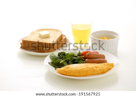 Set meal a healthy morning - stock photo