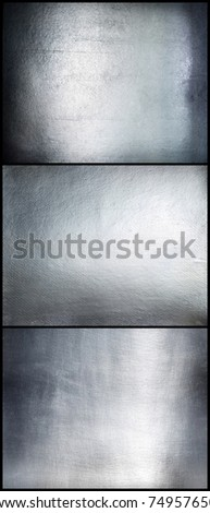 Set metal plate steel background.Hi res. - stock photo
