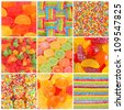 set of A lot of colorful colorful candies for background - stock photo