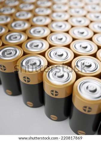 Set of AA-sized batteries