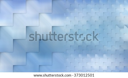 Set of abstract backgrounds blue - stock photo