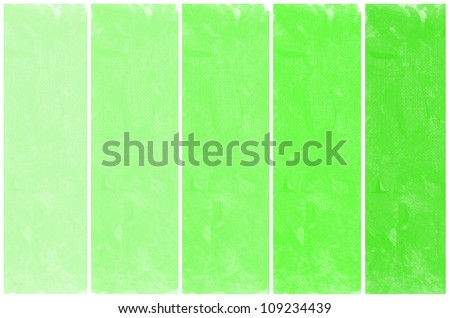 Set of abstract green watercolor hand painted - stock photo