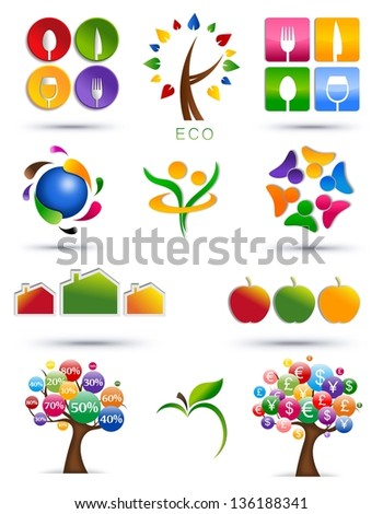 Set of abstract icons - stock photo