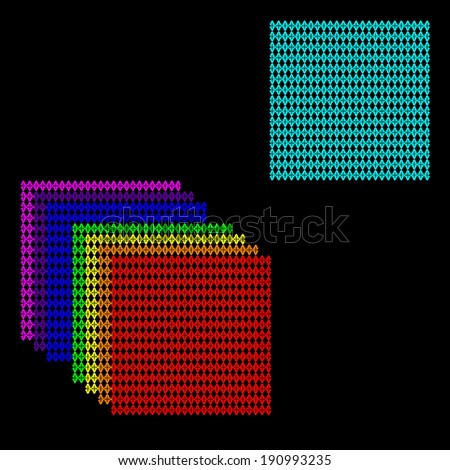 set of abstract squares in different colors