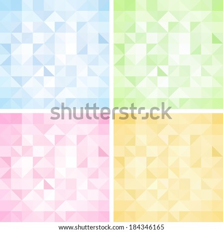 Set of Abstract Triangle Backgrounds, Raster Version