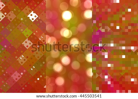 Set of abstractions picture. Three background multicolored.