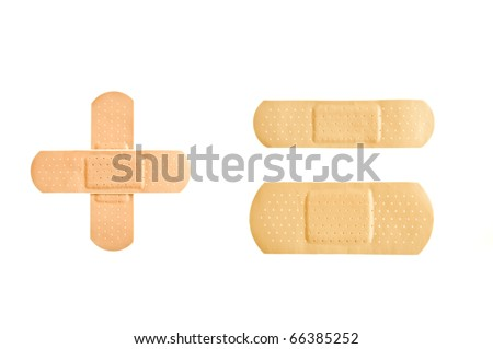 Set of Adhesive first-aid bandages - stock photo