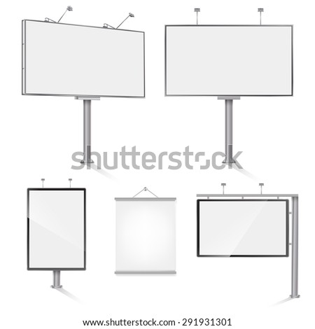 set of advertising outdoor design templates. . raster version - stock photo