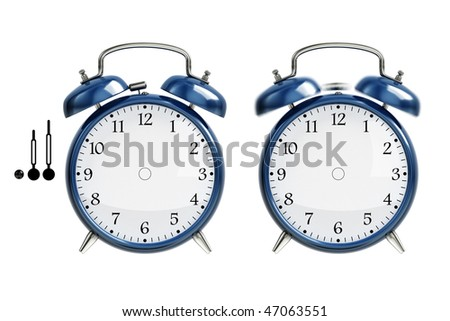 Set of alarm clock - stock photo