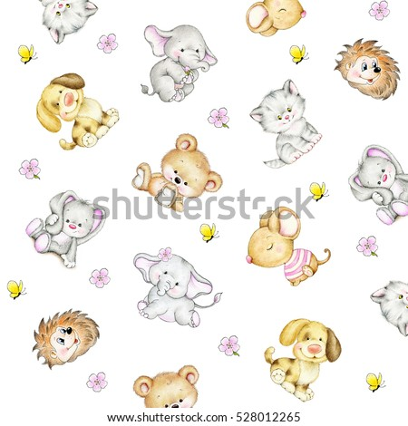 Set of animals- background