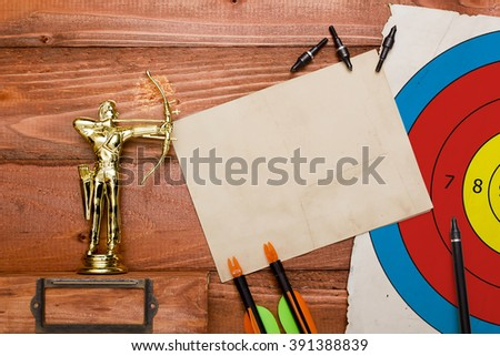 Set of arrows for the sports of archery and target. - stock photo