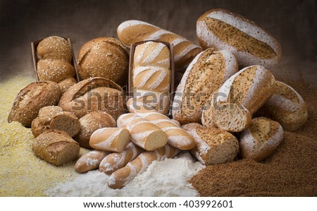 Set of artisan bread - stock photo