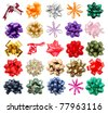 set of assortment gift bows - stock photo