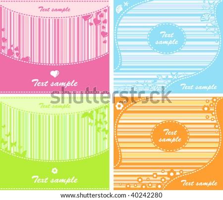 Set of backgrounds illustration - stock photo