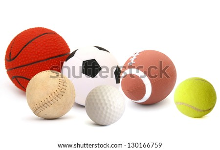 Set of ball games - stock photo