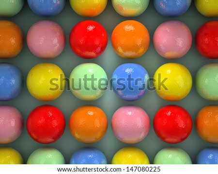 Set of balls of different colors - stock photo