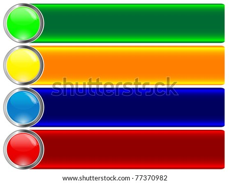 Set of banners with button. Similar image in vector format  in my portfolio.