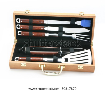 Set of BBQ - stock photo