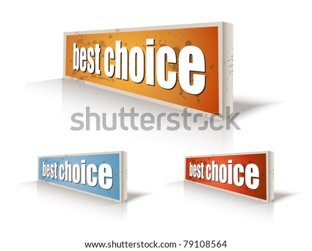 """Set of """"Best Choice"""" speech bubble sticker with transparent shadows, ready to be placed on every surface. - stock photo"""