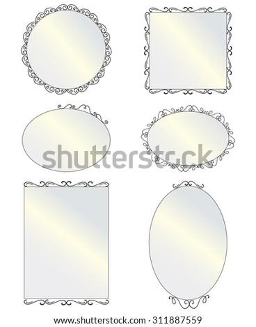 Different Shaped Mirrors different shaped mirrors - home design