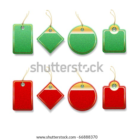 Set of blank Christmas labels