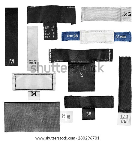 Clothing label stock images royalty free images vectors for Blank label clothing