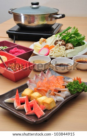 Set of boil food - stock photo