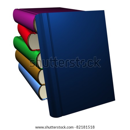 Set of books - 3D rendered - stock photo