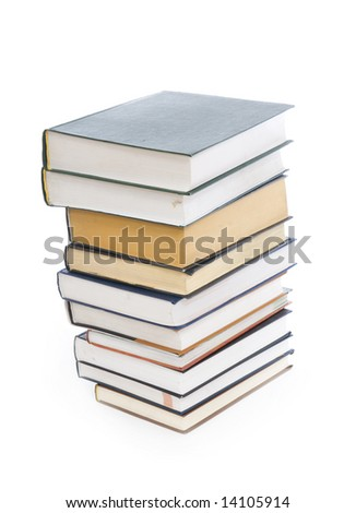 Set of books isolated on a white background - stock photo