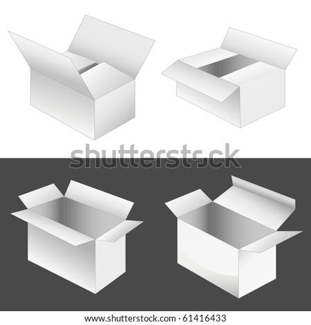 set of 4 boxes - stock photo