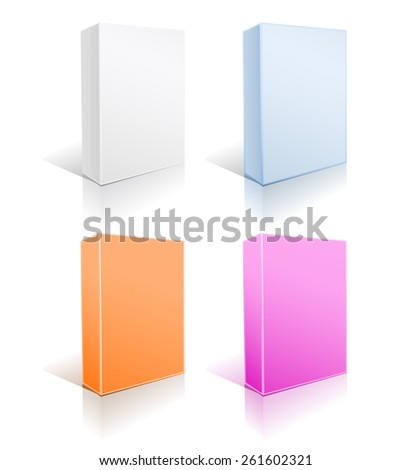 set of boxes on white  - stock photo