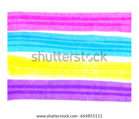 Set of bright colorful elements for design in the form of stripes on white background