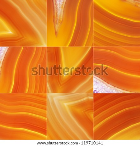 Set of Brown Agate - stock photo