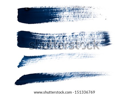 set of brush strokes  - stock photo