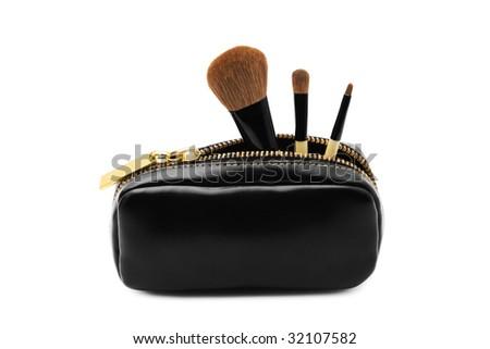Set of brushes isolated over white background - stock photo