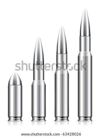 Set of bullets on white background - stock photo