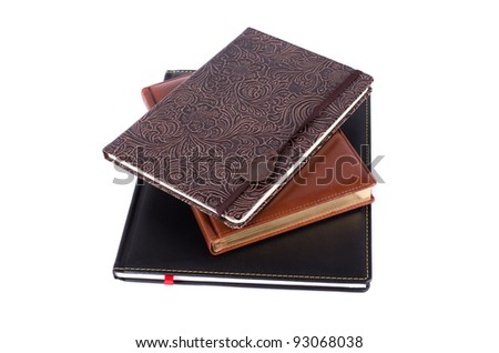 set of business book isolated over white background